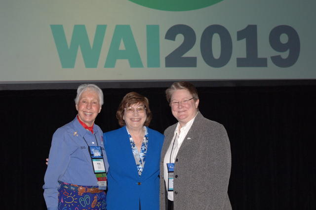 30 year WAI attendees Wally Funk, Peggy Chabrian, and Amy Carmien