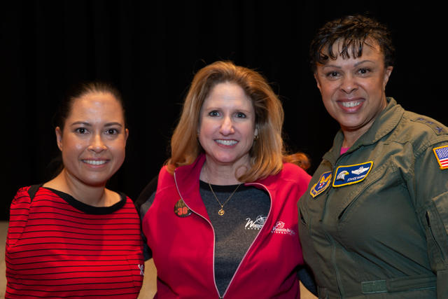 Girls in Aviation Day speakers Jessica Cox and Lt.Gen Stayce Harris
